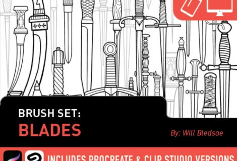 Tattoosmart: Blades Brush Set by Will Bledsoe for sale now