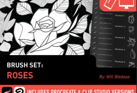 Tattoosmart: Roses Brush Set by Will Bledsoe for sale now